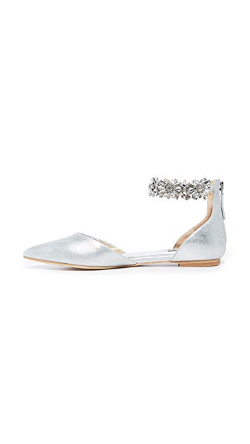 Badgley Mischka Morgen II Ankle Strap Flats