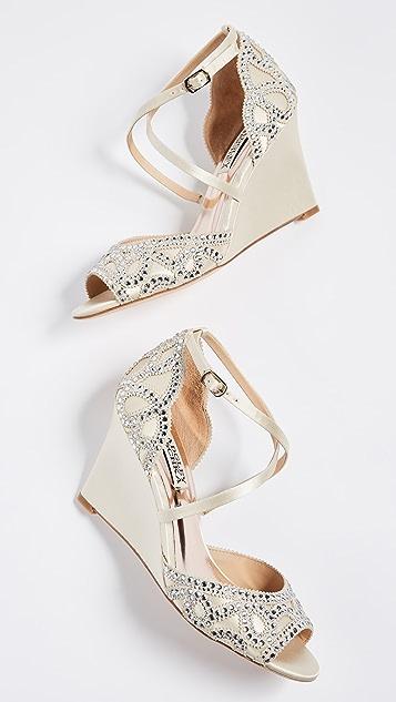 Badgley Mischka Winter Wedge Sandals
