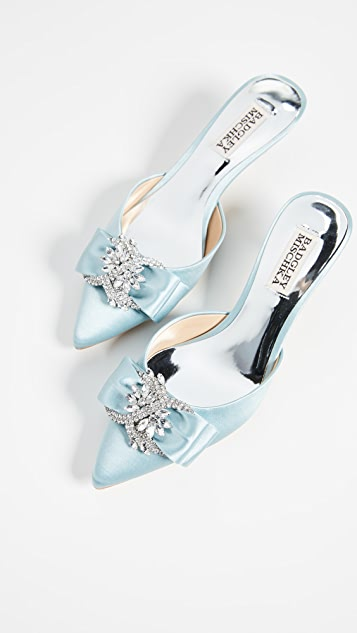 Badgley Mischka Hagen Point Toe Kitten Heels