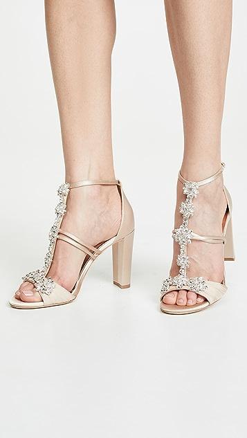 Badgley Mischka Laney T-Strap Sandals