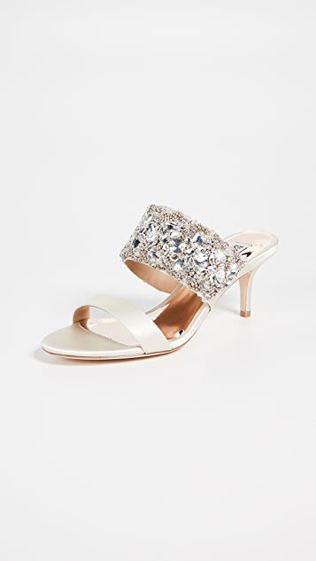 Badgley Mischka Linda Double Strap Mules