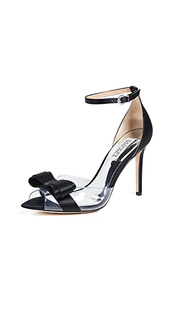 Badgley Mischka Виниловые сандалии с ремешком на щиколотке Lindsay