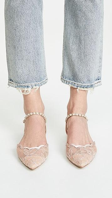 Badgley Mischka Lennon Ankle Strap Flats