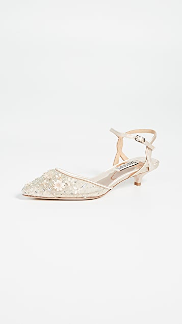 Badgley Mischka Iris Kitten Heel Pumps