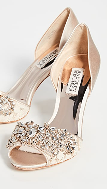 Badgley Mischka Andrea Open Toe Pumps