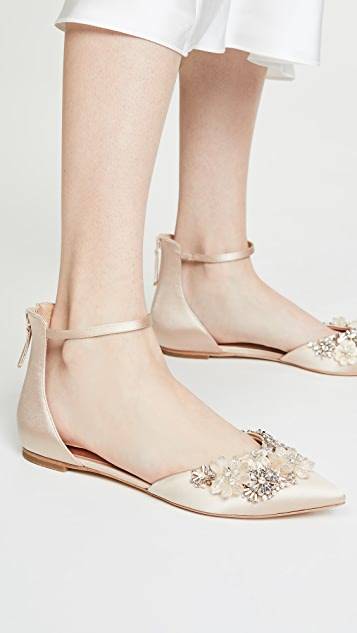 Badgley Mischka Abby Ankle Strap Flats