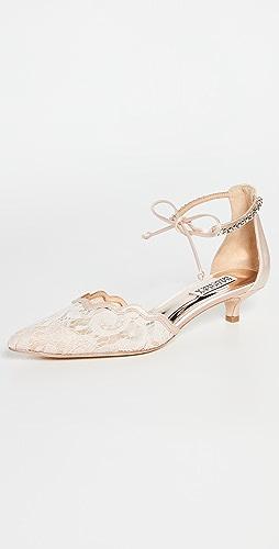 Badgley Mischka - Betsy Satin Lace Heel