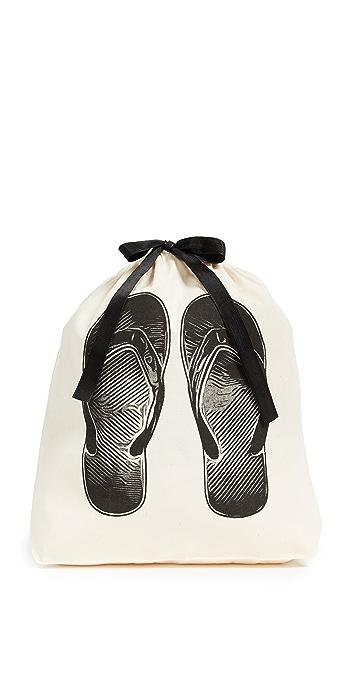 Bag-all Flip Flop Organizing Bag - Natural/Black