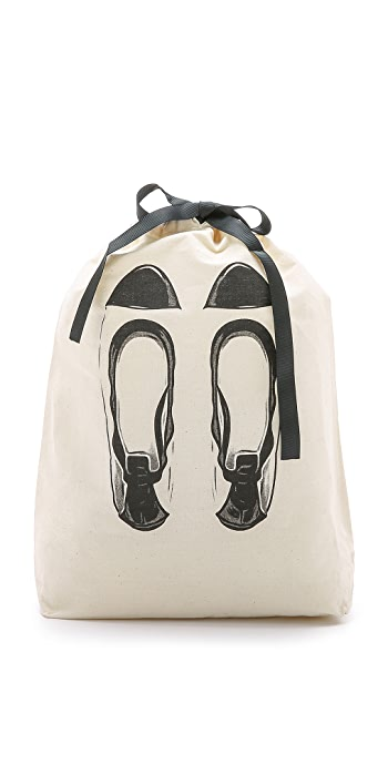 Bag-all Ballet Flats Organizing Bag - Natural/Black