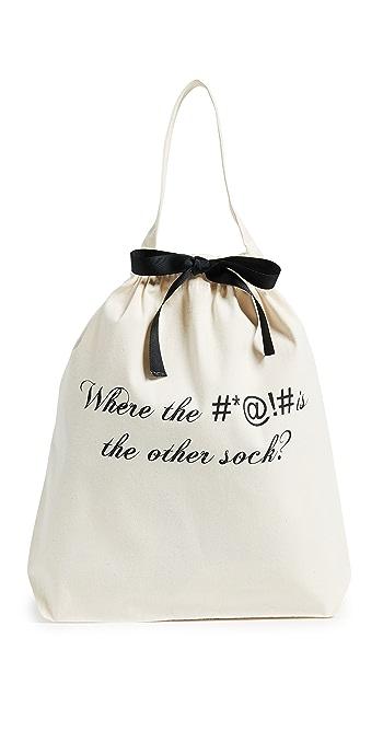 Bag-all Lost Sock Travel Bag - Natural/Black