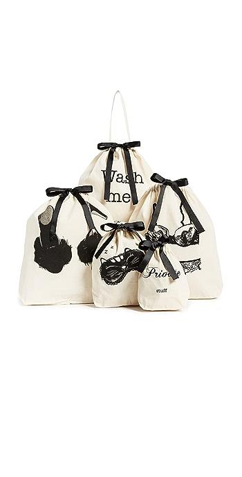 Bag-all Resort Getaway Bag Set - Natural/Black