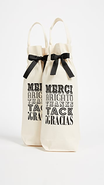 Bag-all Set of 2 Merci! Wine Bags
