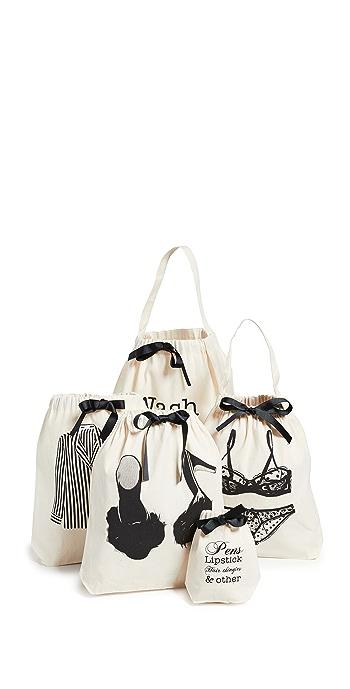 Bag-all Womens Weekend Getaway Set - Natural/Black