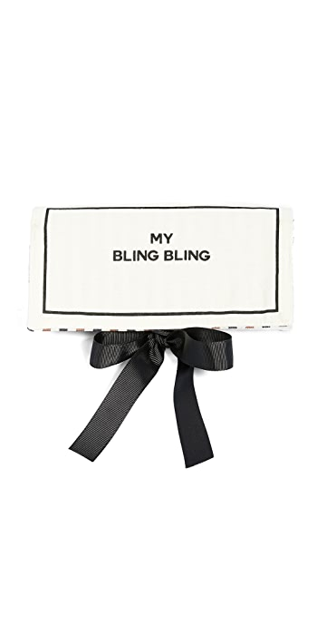 Bag-all My Bling Bling Jewelry Roll - Natural/Black