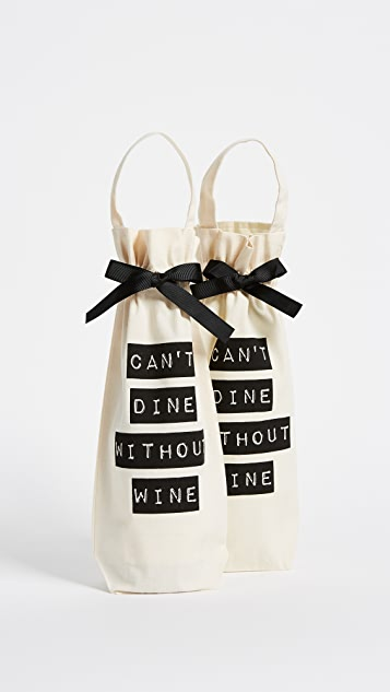 Bag-all Can't Dine Without Wine 2 Pack