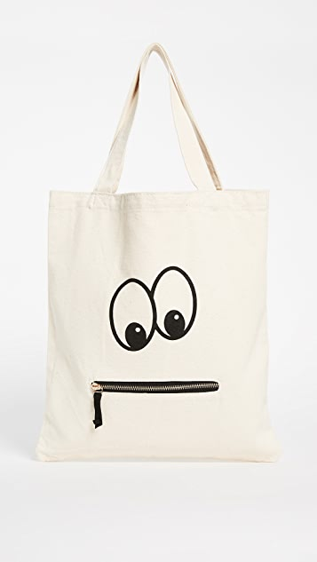 Bag-all Googly Eyed Zipper Tote