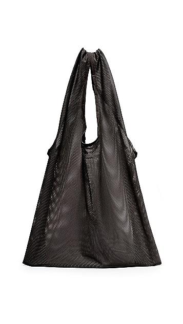BAGGU Объемная сумка с короткими ручками из сетчатой ткани