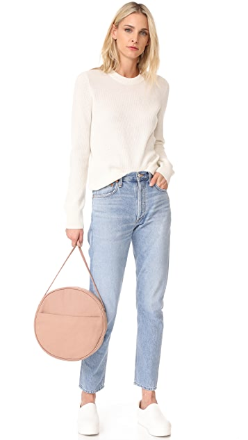 BAGGU Large Canvas Circle Purse