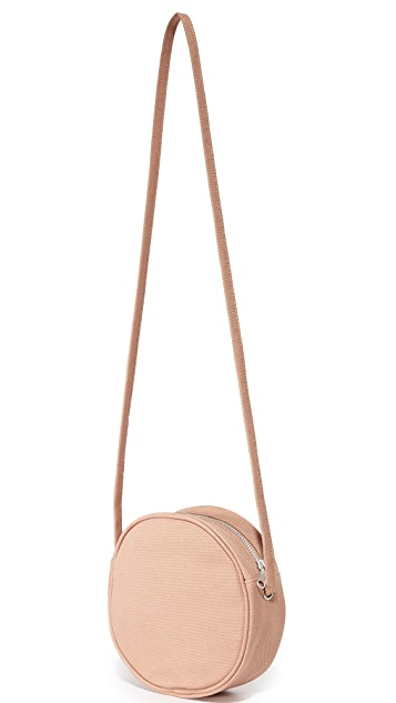 BAGGU Small Canvas Circle Purse