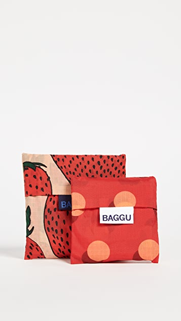 BAGGU Strawberry Bag Set