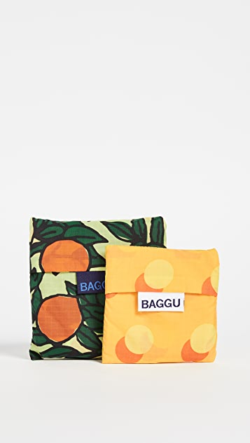 BAGGU Orange Tree Bag Set