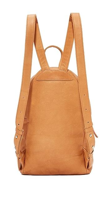 BAGGU Leather Backpack
