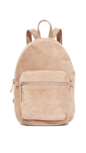 BAGGU Leather Backpack