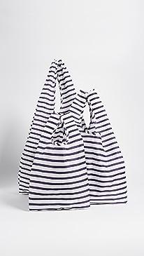 바구 트리플 토트백 Baggu Standard Triple Set,Sailor Stripe
