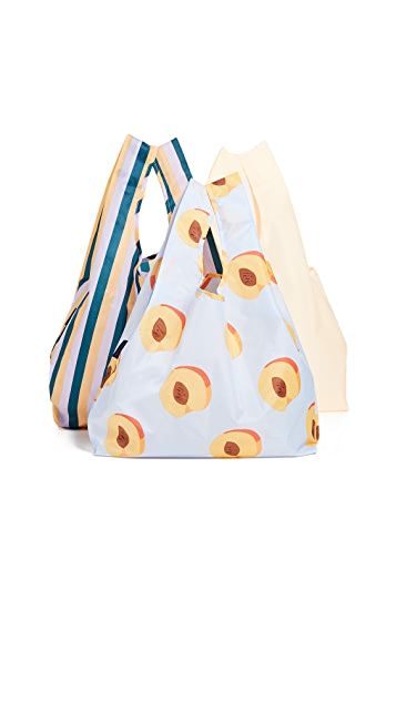 BAGGU Standard Packable Bag Triple Set
