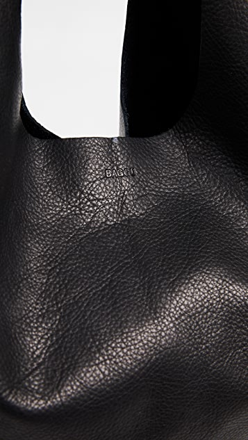 BAGGU Leather Baggu Tote