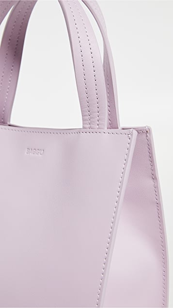 BAGGU Small Leather Retail Tote