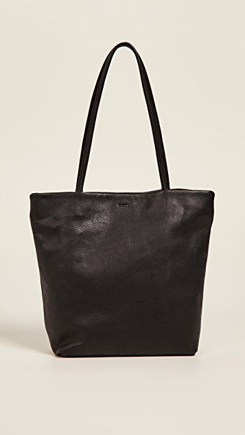 BAGGU Medium Leather Tote
