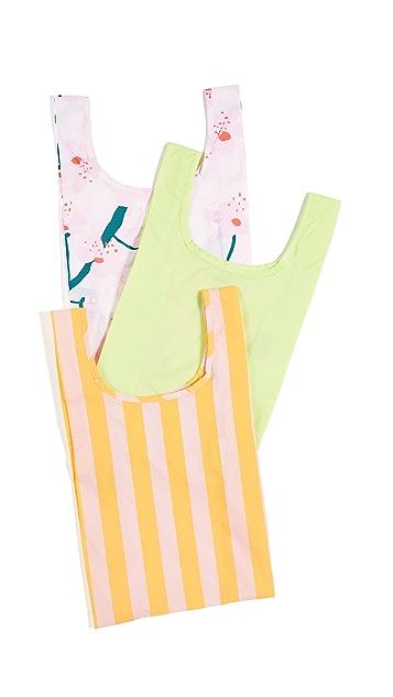 BAGGU Набор из трех складных сумок для детских вещей