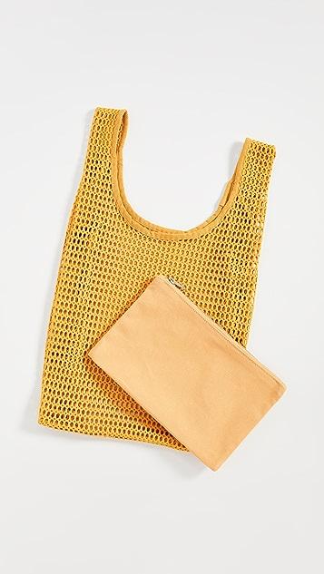 BAGGU Объемная сумка с короткими ручками Baggu из сетки
