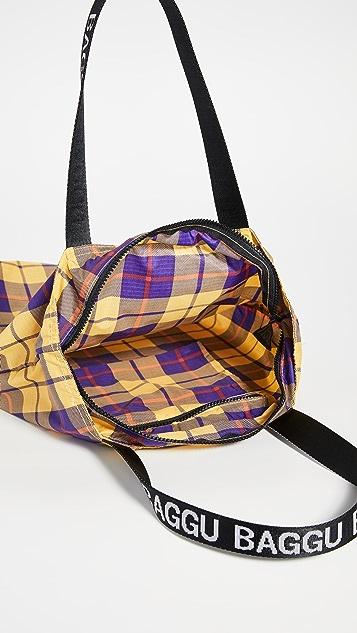 BAGGU Объемная сумка с короткими ручками из ткани рипстоп