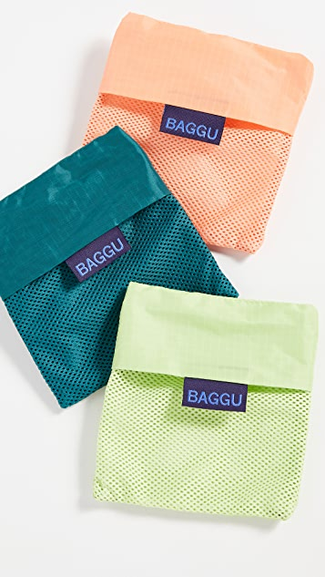 BAGGU 网眼织物包三个装