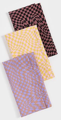 BAGGU - Trippy Checker 可重复使用织物套装