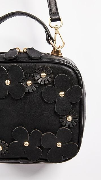 Studio 33 Floral Applique Box Bag