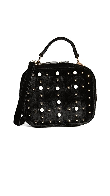 Studio 33 Imitation Pearl & Stud Box Bag