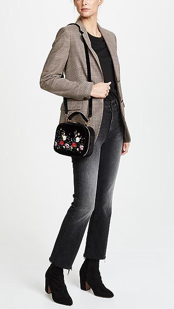 Studio 33 Floral Embroidery Box Bag