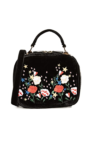 Studio 33 Floral Embroidery Box Bag