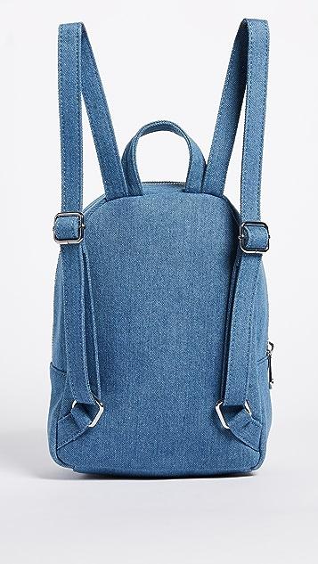 Studio 33 Denim Embroidery Mini Backpack