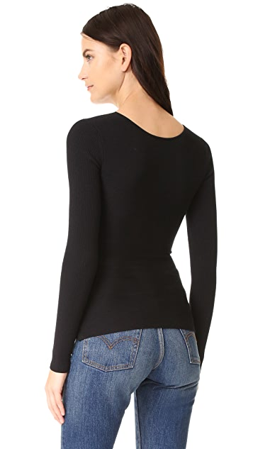 Bailey44 Reversible Ribbed Crossover Sweater