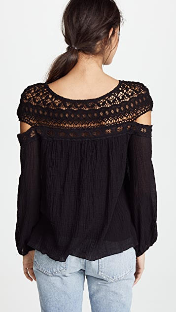 Bailey44 Crochet Cutout Top