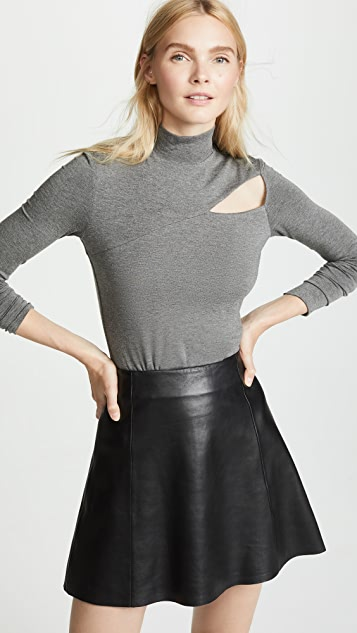 Bailey44 Audrey Cutout Turtleneck Top