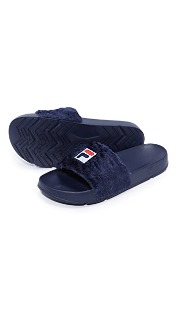 Baja East x Fila Shearling Slides