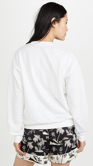 Baja East 露肩圆领运动衫