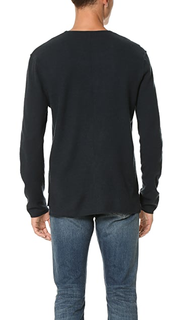 Baldwin Denim Emmett Boiled Wool Crew Sweater