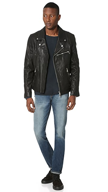 Baldwin Denim Johnny Leather Moto Jacket