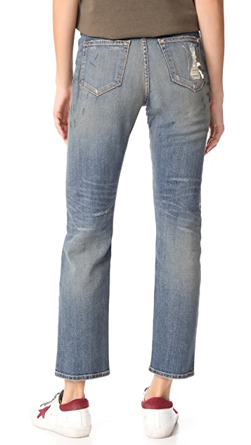 Baldwin Denim Lola High Rise Straight Jeans